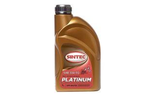 Масло SINTEC PLATINUM 5W30