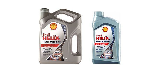 Масло Shell Helix High Mileage 5W40