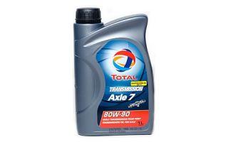 Трансмиссионное масло TOTAL TRANSMISSION AXLE 7 80W90