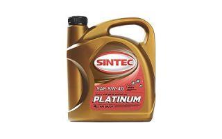 Масло SINTEC Platinum SAE 5W40 API SN/CF