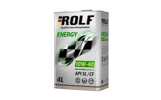 Масло ROLF ENERGY 10W40 SL/CF
