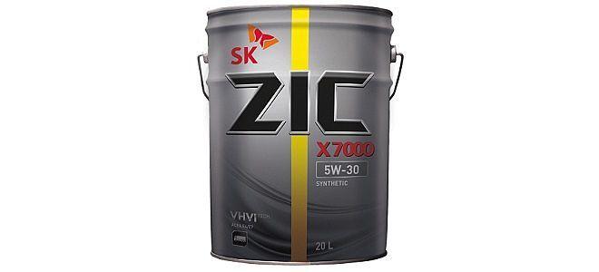 Длительная и надежная защита двигателя : ZIC X7000 5W30