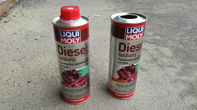 Промывка форсунок дизельного двигателя ликви моли