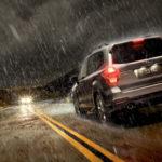 Распространенные ошибки водителей при движении в дождь