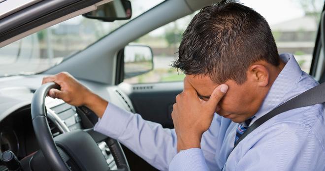 Расстроенный водитель
