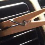 Для чего деревянную прищепку крепят на воздуховод автомобиля. И еще некоторые водительские хитрости
